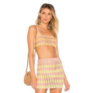 NEW Lovers + Friends Lily Crop Top & Skirt Set